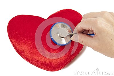 Red Heart With Blue Stethoscope