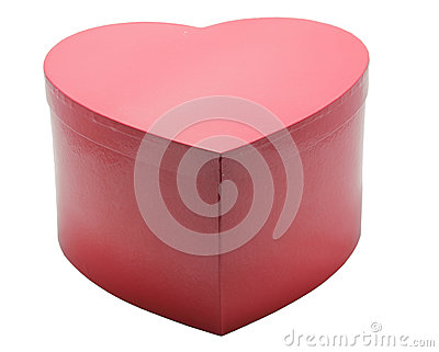 Red Heart Box in white background