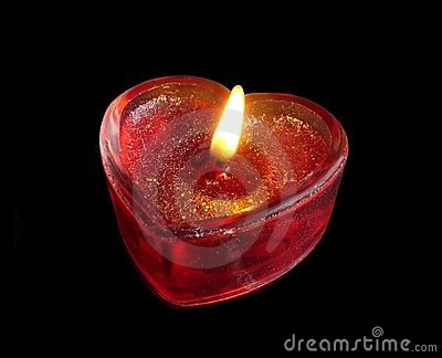 Red Heart Candle Stock Photo Image 419170