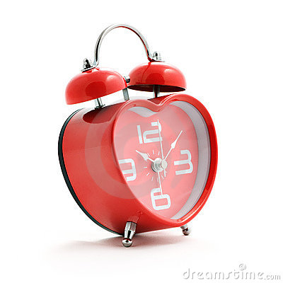 Free Red Heart Clock Royalty Free Stock Image - 13508546