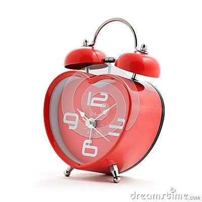Free Red Heart Clock Royalty Free Stock Photos - 13508548