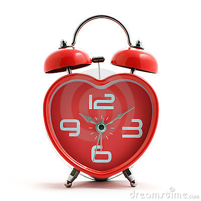 Free Red Heart Clock Stock Image - 13508551