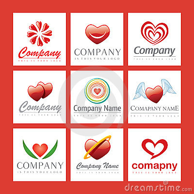 Red heart company logos