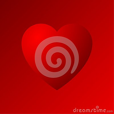 Red heart dradient icon Stock Photo