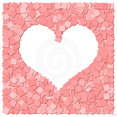 Red heart frame canvas background