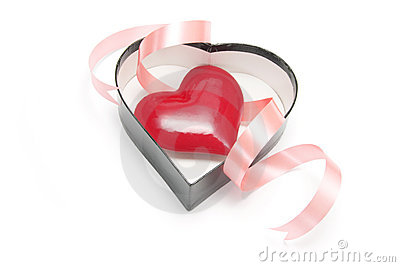 Red Heart in Gift Box