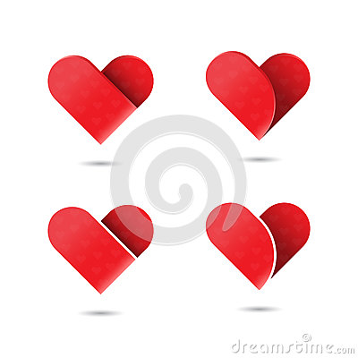 Red heart icon.Love and Heart Care logo.Heart shape and healthcare Vector Illustration