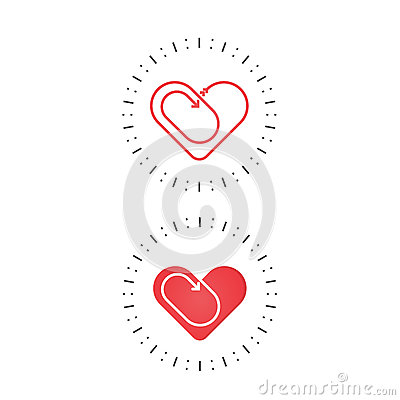Red heart icon.Love and Heart Care logo.Heart shape Vector Illustration