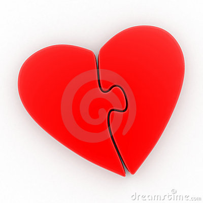 Free Red Heart In The Form Of A Puzzle Royalty Free Stock Photos - 12474748