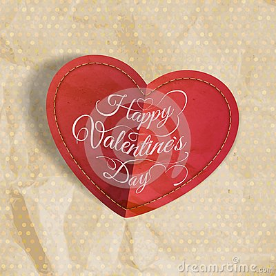 Free Red Heart On Vintage Paper. EPS 10 Stock Photos - 47981133