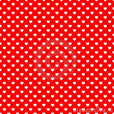 Red heart seamless pattern background