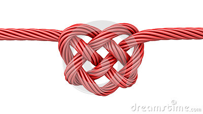 Red Heart Shaped Knot Stock Photos Image 28624563