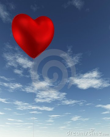 Red Heart-Shaped Valentine Balloon