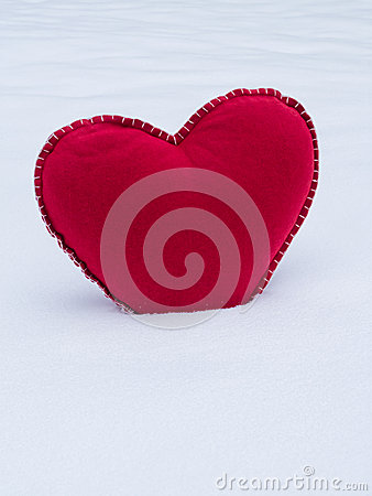 Red Heart in Snow