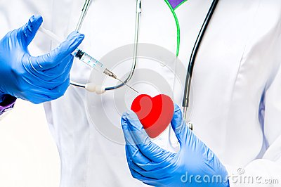 Red heart With Syringe