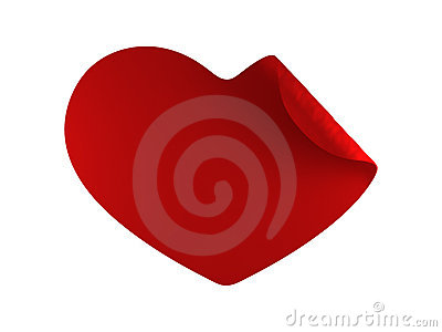 Red heart twirl