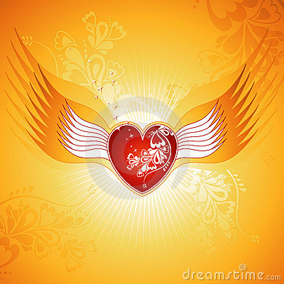 Red heart, vector
