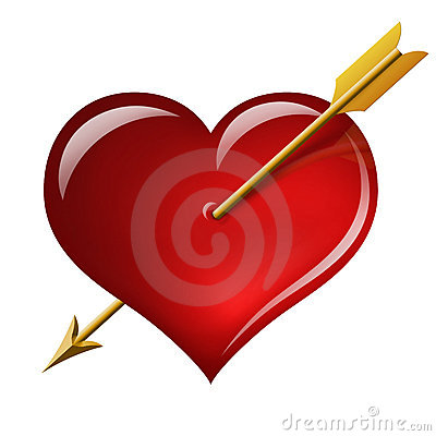 Free Red Heart With An Arrow Of The Cupid Royalty Free Stock Photo - 17751935