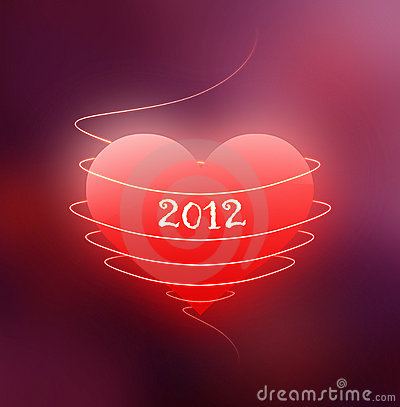 Red heart - year 2012
