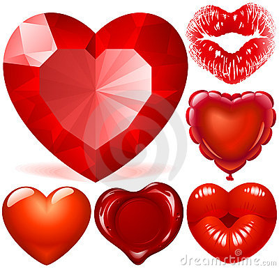 Free Red Hearts Stock Images - 12792524