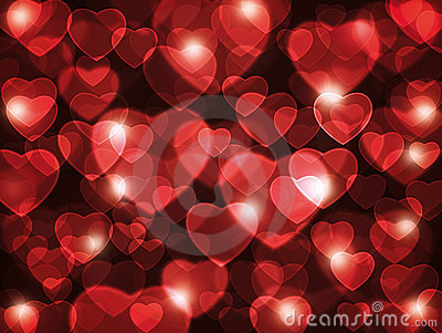 Red hearts background.