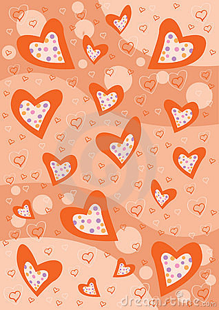 Red Hearts background texture