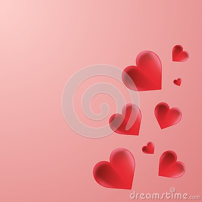 Red Hearts Background Wallpaper Vector Vector Illustration