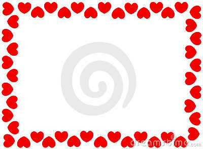 Red Hearts Border Stock Photography Image 8016982