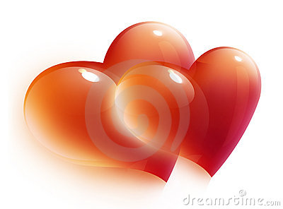 Red hearts card for valentine s day
