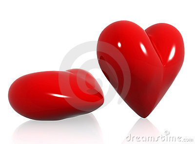 Red hearts of love