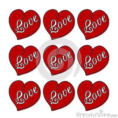 Hearts of love illustration
