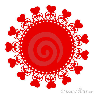 Red Hearts Motif
