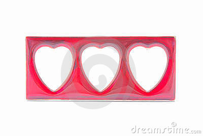 Red hearts picture frame