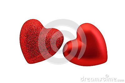 Red hearts  for St Valentine
