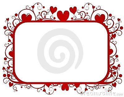 Red Hearts Swirls Valentine s Day Frame