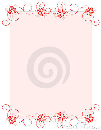 Red hearts valentine s day background/ border
