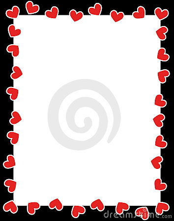 Clean Valentine's Day / Holiday /Love border.. with red hearts.. for ...