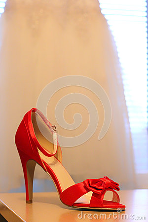 Red heels for wedding