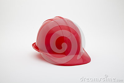 Red helmet with clipping path