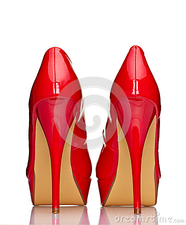 Free Red High Heel Shoes Royalty Free Stock Images - 24713769