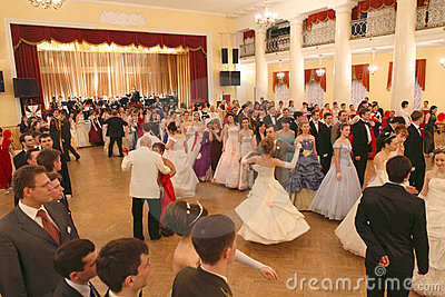 Red Hill - Spring ball Moscow Nobility Assembly Editorial Stock Photo