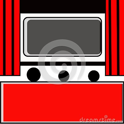 Free Red Home Theater Illustration Vector Fun Entertainment Banner Royalty Free Stock Photo - 107765335