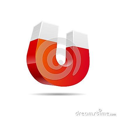 Red horseshoe magnet