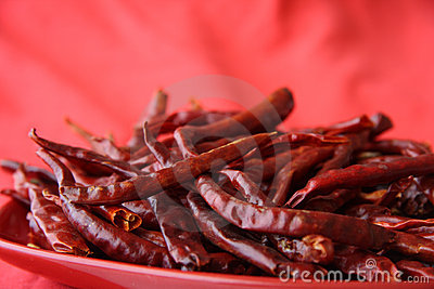 Red hot chilli peper pods red