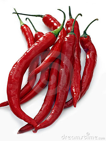 Free Red Hot Chilli Peppers Royalty Free Stock Photos - 9734098