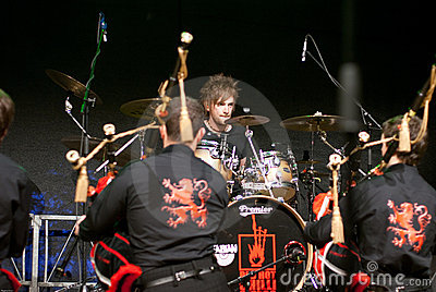 Red Hot Chilli Pipers in XANTEN Editorial Stock Photo