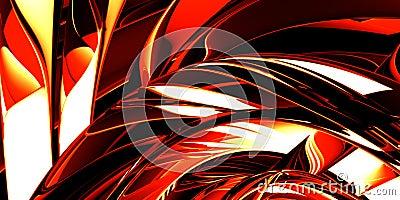 Red hot metal