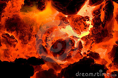 Red hot volcano ember 2