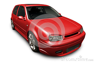 Red Hot VW Hatchback