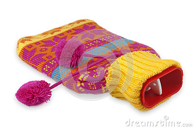 Red hot water bottle